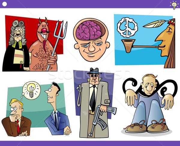 cartoon concepts and ideas set Stock photo © izakowski