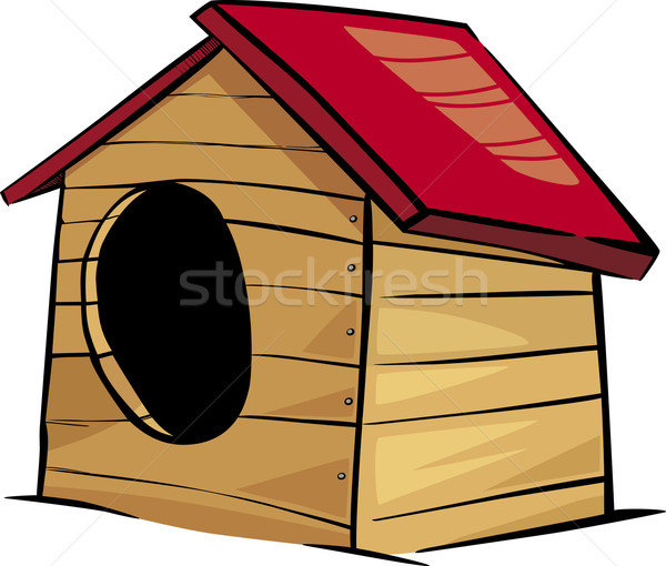 doghouse clip art cartoon illustration Stock photo © izakowski