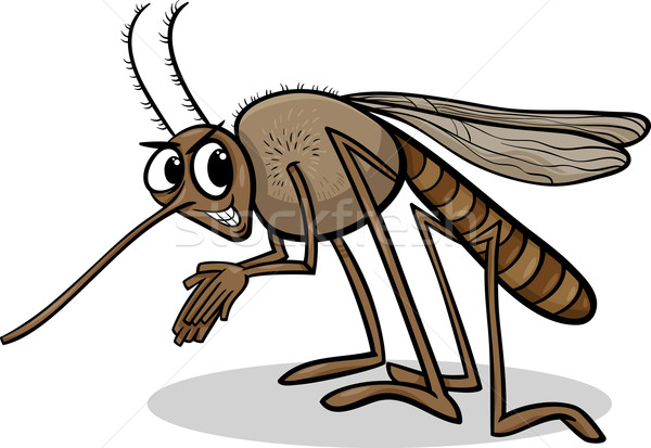 mosquito insect cartoon illustration Stock photo © izakowski