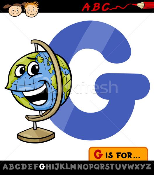 Mektup g dünya karikatür örnek alfabe Stok fotoğraf © izakowski