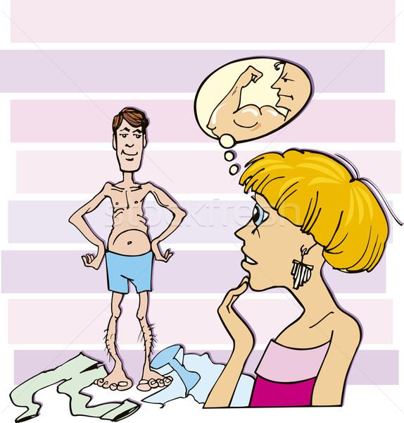 女性 薄い 男 漫画 実例 ストックフォト © izakowski