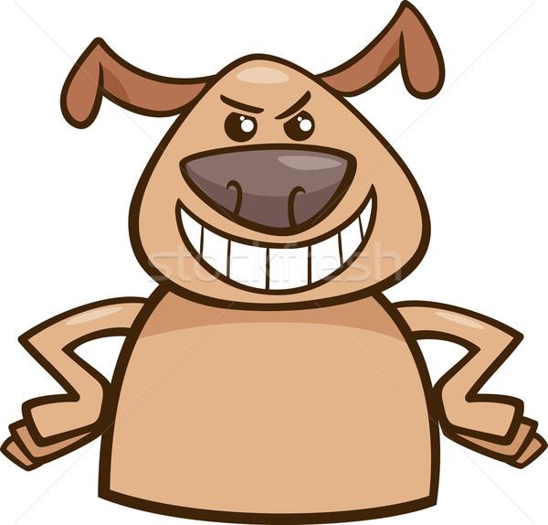 Humeur cruel chien cartoon illustration drôle Photo stock © izakowski