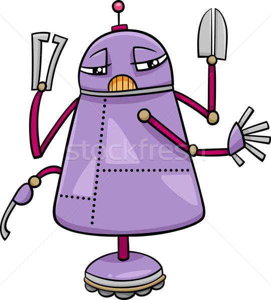 ロボット 文字 漫画 実例 面白い サイエンスフィクション ストックフォト © izakowski