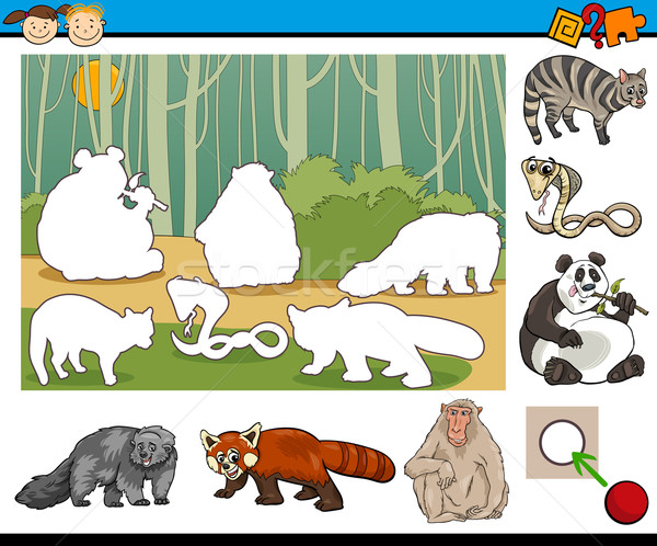 educational preschool task cartoon Stock photo © izakowski