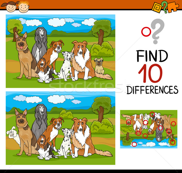 finding differences task for kids Stock photo © izakowski
