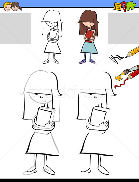 drawing and coloring activity Stock photo © izakowski