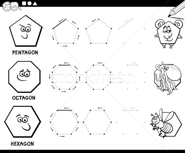 обратить геометрический страница черно белые образовательный Сток-фото © izakowski