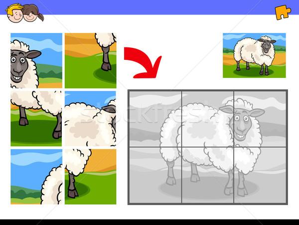 Ovelha animal desenho animado ilustração Foto stock © izakowski