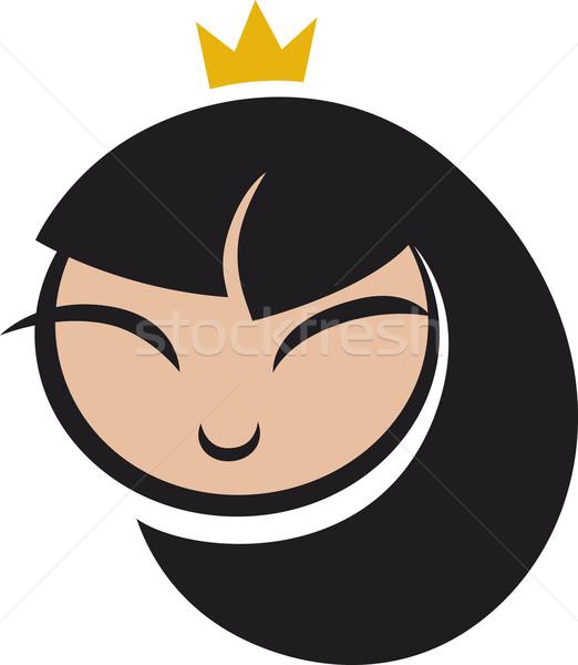 漫画 王女 アイコン 実例 笑顔 顔 ストックフォト © izakowski