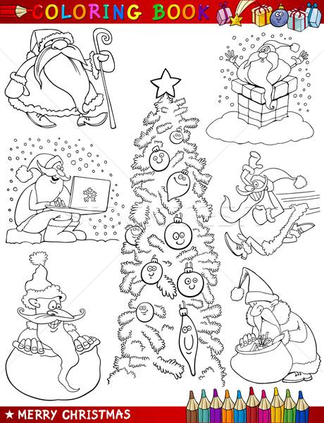 漫画 クリスマス 塗り絵の本 実例 ストックフォト © izakowski