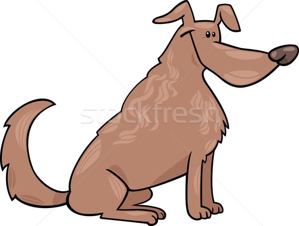 Cute сидят собака Cartoon иллюстрация смешные Сток-фото © izakowski