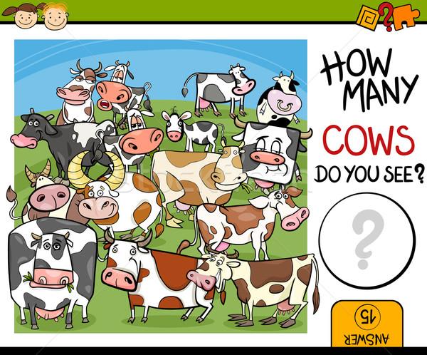 counting game cartoon illustration Stock photo © izakowski
