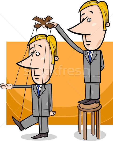 puppet businessman concept cartoon Stock photo © izakowski