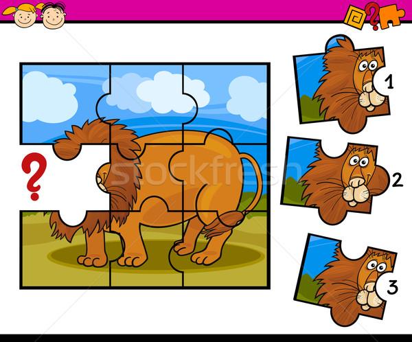 puzzle preschool cartoon game Stock photo © izakowski