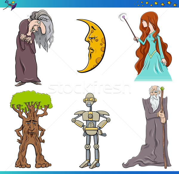 fairy tale characters set Stock photo © izakowski