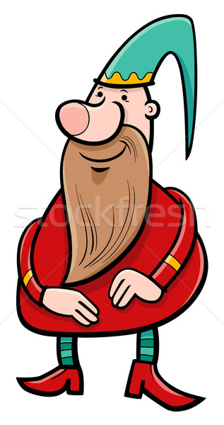 карлик фантазий характер Cartoon иллюстрация гном Сток-фото © izakowski