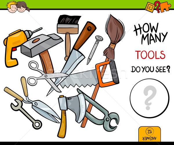 counting tools educational activity game Stock photo © izakowski