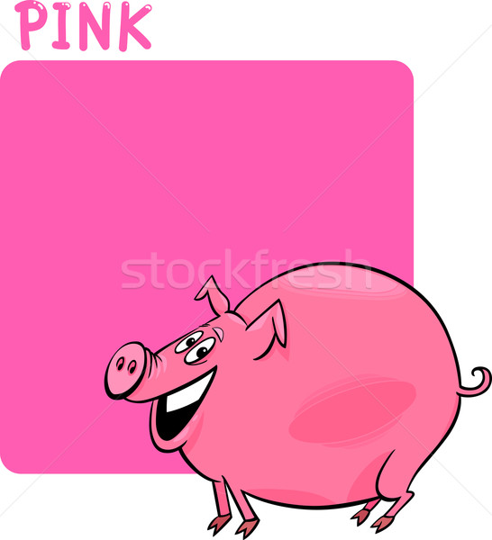 Cartoon  on 1901621 Color Pink And Pig Cartoon Por Izakowski