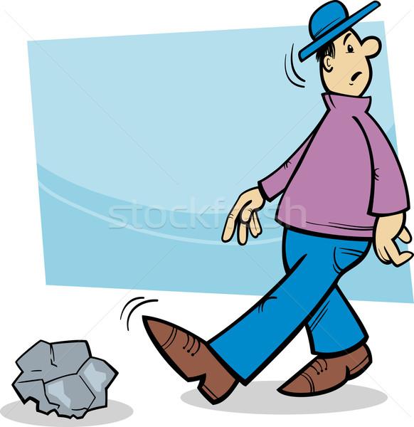 inattentive man cartoon illustration Stock photo © izakowski
