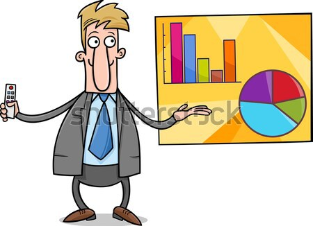 businessman diviner cartoon Stock photo © izakowski