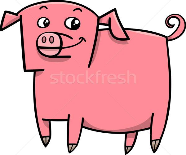 pig farm animal cartoon Stock photo © izakowski