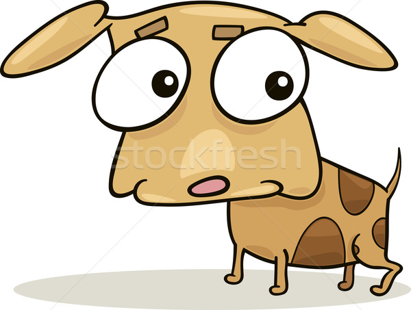 Cute toutou cartoon illustration peu chien Photo stock © izakowski
