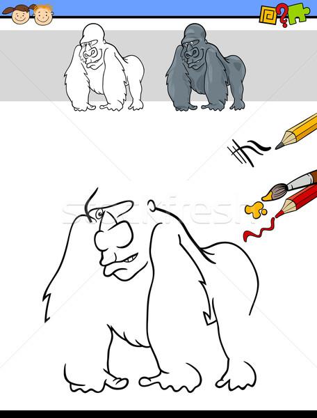Bitirmek renk görev çocuklar karikatür örnek Stok fotoğraf © izakowski
