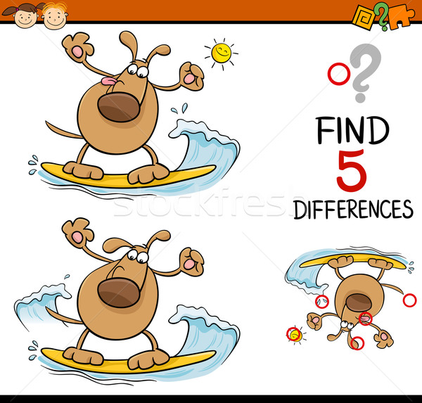 task of differences cartoon Stock photo © izakowski