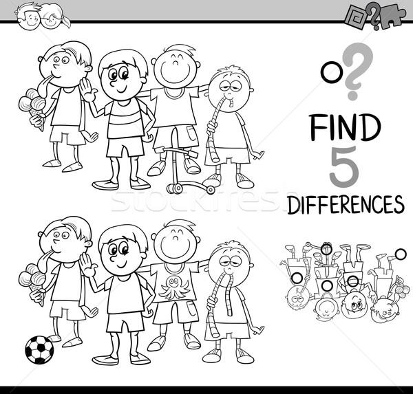 task of differences coloring page Stock photo © izakowski