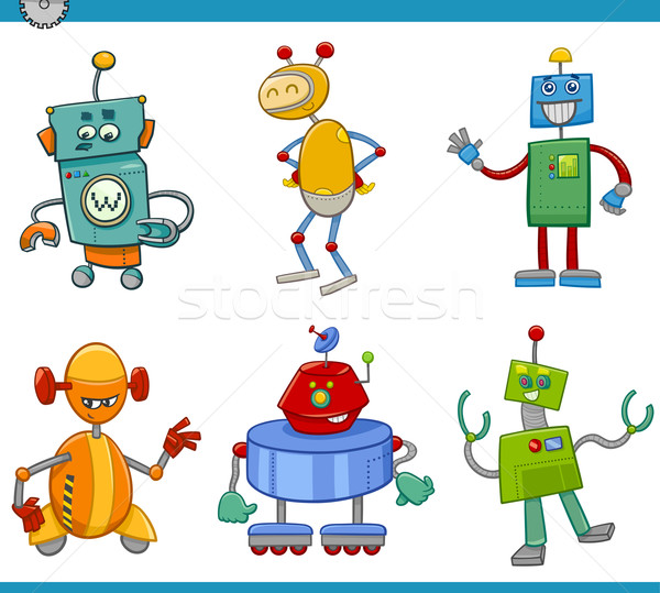 Photo stock: Cartoon · robot · illustration · robots