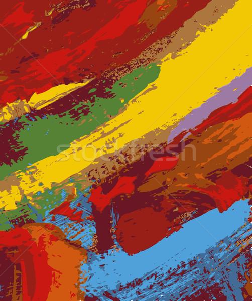 抽象的な 絵画 実例 テクスチャ 壁 塗料 ストックフォト © izakowski