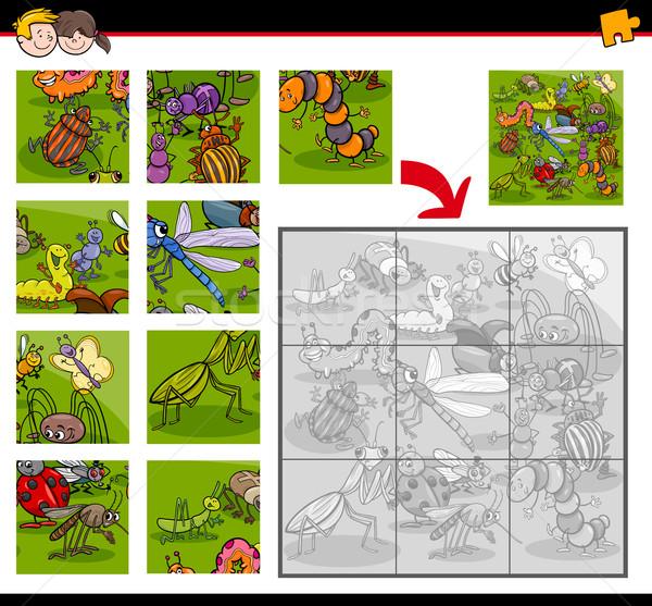 jigsaw puzzles with insects Stock photo © izakowski
