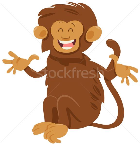 Kócos majom állat karakter rajz illusztráció Stock fotó © izakowski