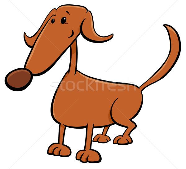 Cute коричневая собака Cartoon комического характер иллюстрация Сток-фото © izakowski