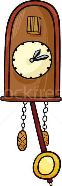 Koekoek klok clip art cartoon illustratie Stockfoto © izakowski