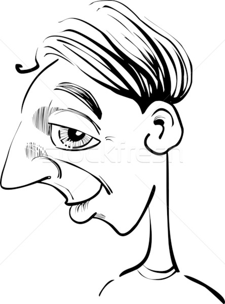 Funny man caricature Stock photo © izakowski