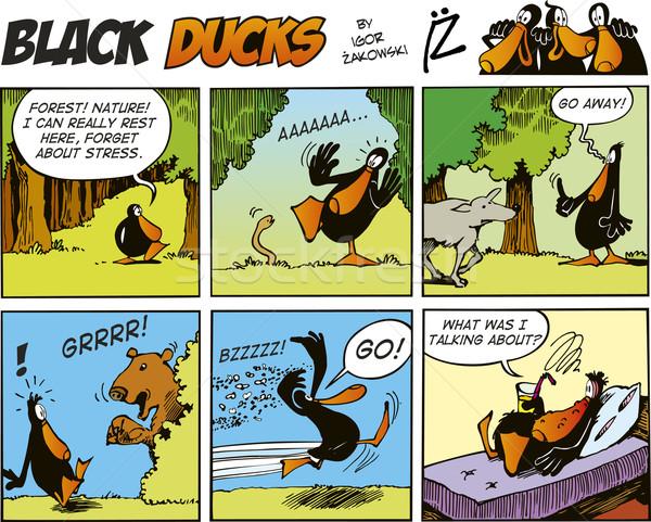 Black Ducks Comics episode 58 Stock photo © izakowski