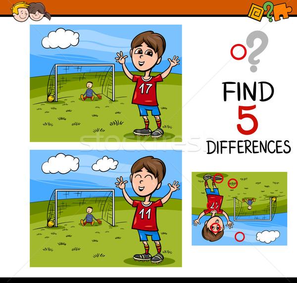 Foto stock: Diferenças · atividade · tarefa · desenho · animado · ilustração