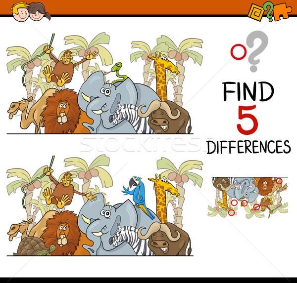 Farklılıklar etkinlik çocuklar karikatür örnek Stok fotoğraf © izakowski