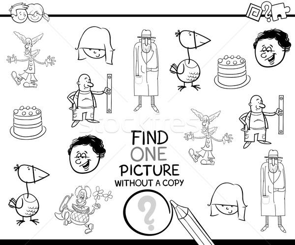 Educativo actividad página blanco negro Cartoon ilustración Foto stock © izakowski