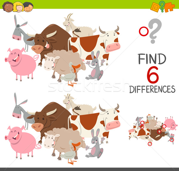 educational finding differences game Stock photo © izakowski