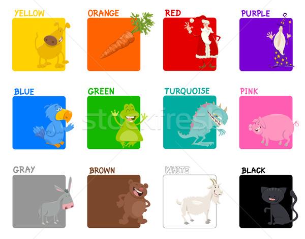 basic colors educational set Stock photo © izakowski