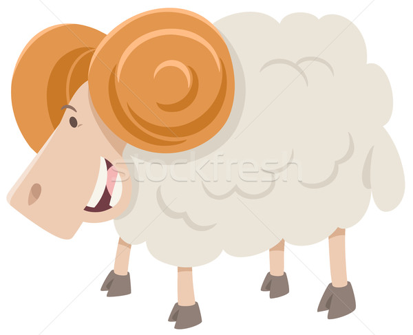 Feliz carnero animales carácter Cartoon ilustración Foto stock © izakowski