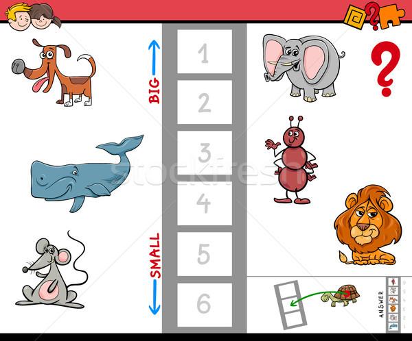 biggest animal cartoon game for children Stock photo © izakowski