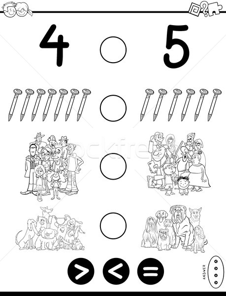 greater less or equal game coloring book Stock photo © izakowski