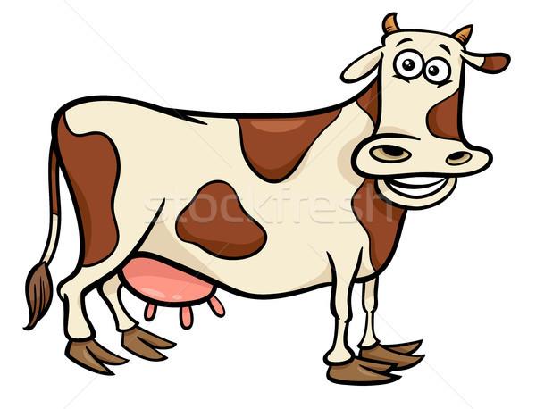 cow farm animal character cartoon illustration Stock photo © izakowski