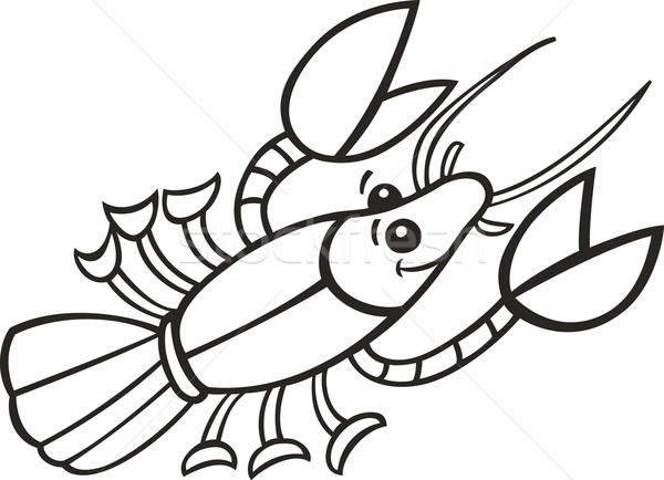 Crayfish for coloring book Stock photo © izakowski