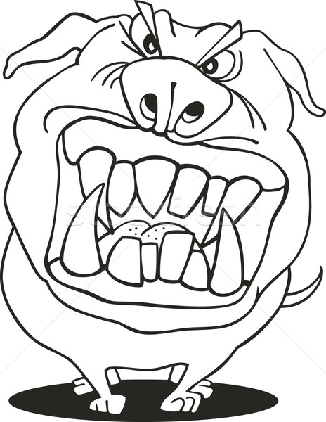 Mad Dog For Coloring Book Vector Illustration C Igor Zakowski