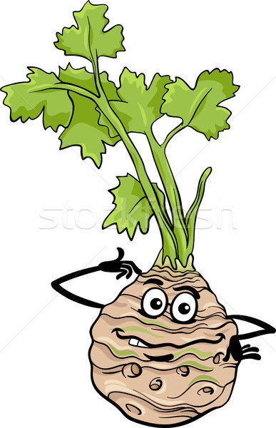 funny celery vegetable cartoon illustration Stock photo © izakowski