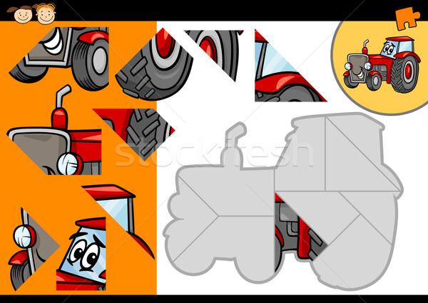 漫画 トラクター ジグソーパズル ゲーム 実例 教育 ストックフォト © izakowski